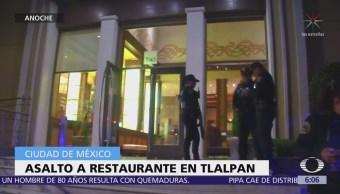 Sujetos armados asaltan restaurante en Calzada de Tlalpan