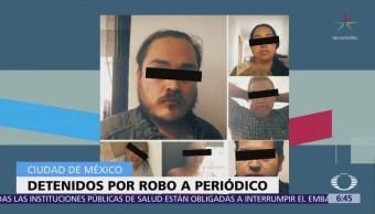 Suman 5 detenidos por robo en oficinas del periódico 'La Razón'