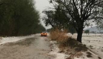 Lluvia y granizo dejan afectaciones en 300 viviendas de Tepeaca, Puebla