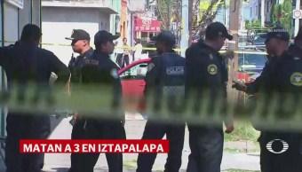 Tiroteo Iztapalapa CDMX Deja Tres Muertos