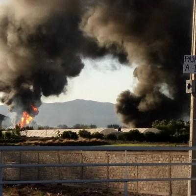 Toma clandestina provoca incendio en Tlajomulco de Zúñiga, Jalisco