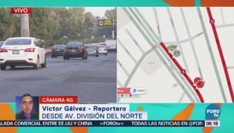 Transporte público atropella a persona en División del Norte, CDMX
