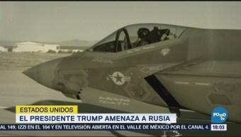 Trump amenaza a Rusia y Siria