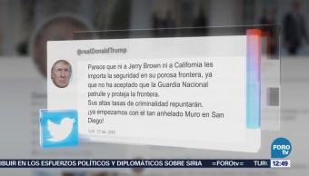 Trump critica a California por no enviar a la Guardia Nacional a la frontera