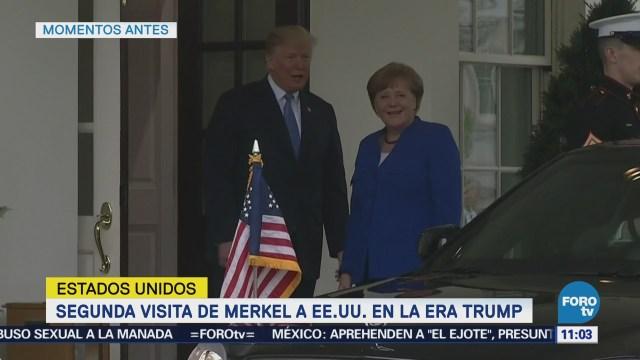 Trump recibe a la canciller alemana Angela Merkel en la Casa Blanca