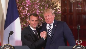 Trump y Macron muestran cariñosa relación