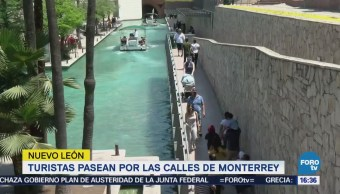 Turistas Pasean Monterrey Semana Santa
