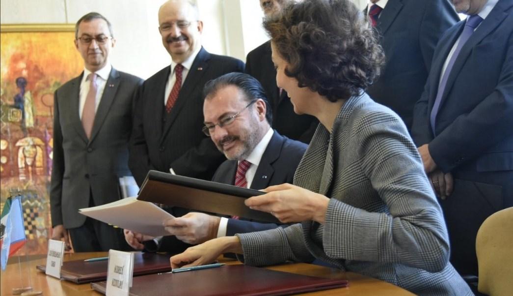 videgaray se reune con la directora general de la unesco