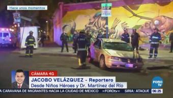 Vuelca vehículo en la colonia Doctores, CDMX