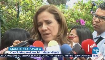 Zavala habla de los recursos para su campaña
