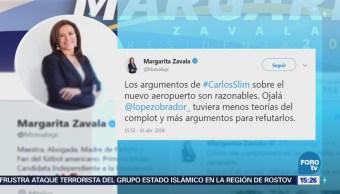 Zavala Invita Amlo Presentar Argumentos Contra Naim