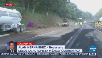 Alistan Liberación Total Autopista México-Cuernavaca