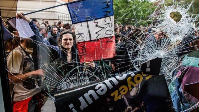 protestas dia trabajo paris dejan mas cien detenidos