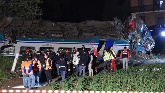 Accidente de tren en Italia deja dos muertos y 20 heridos