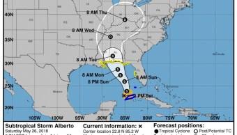 Tormenta subtropical Alberto arroja lluvias en Florida