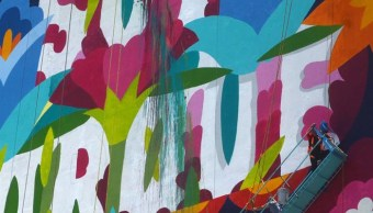 Suspenden mural 'Soy Porque Somos' por falta de permiso