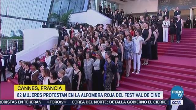82 Mujeres Protestan Alfombra Roja Festival Cine De Cannes