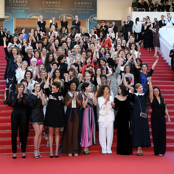 Realizan 82 mujeres una protesta en Cannes