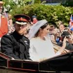 Príncipe Enrique y Meghan Markle salen de la iglesia como duques Sussex