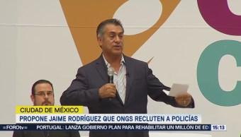 Jaime Rodríguez Propone OC Recluten Policías