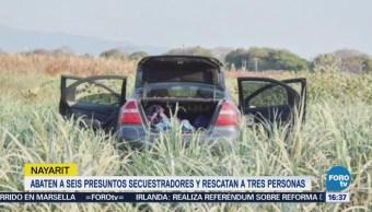 Abaten Nayarit Presuntos Secuestradores Rescatan Personas