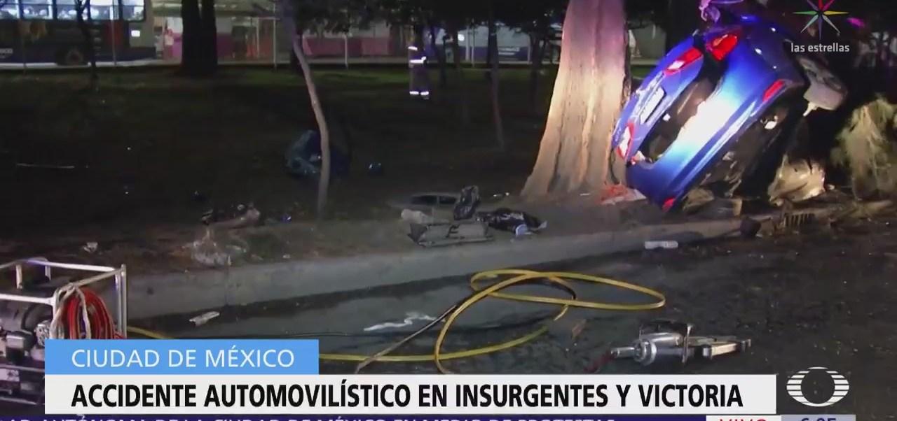 Accidente automovilístico en Insurgentes Norte y Victoria deja dos muertos