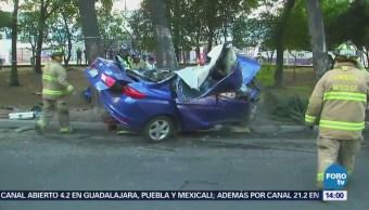 Accidente en Insurgentes Norte deja dos muertos