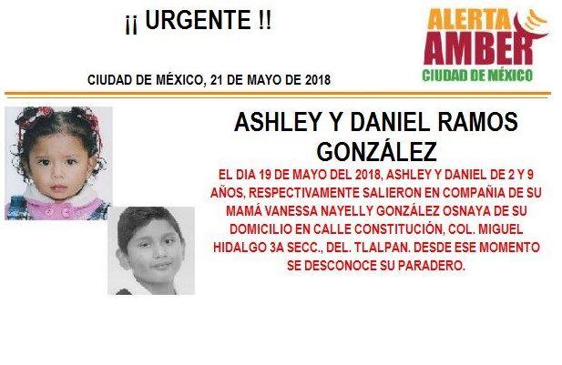 Activan Alerta Amber para localizar a dos menores desaparecidos en Tlalpan, CDMX