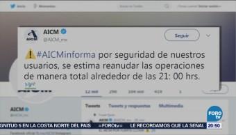AICM reanudará operaciones tras intensa lluvia