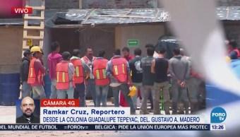 Albañiles conmemoran el Día de la Santa Cruz en la CDMX
