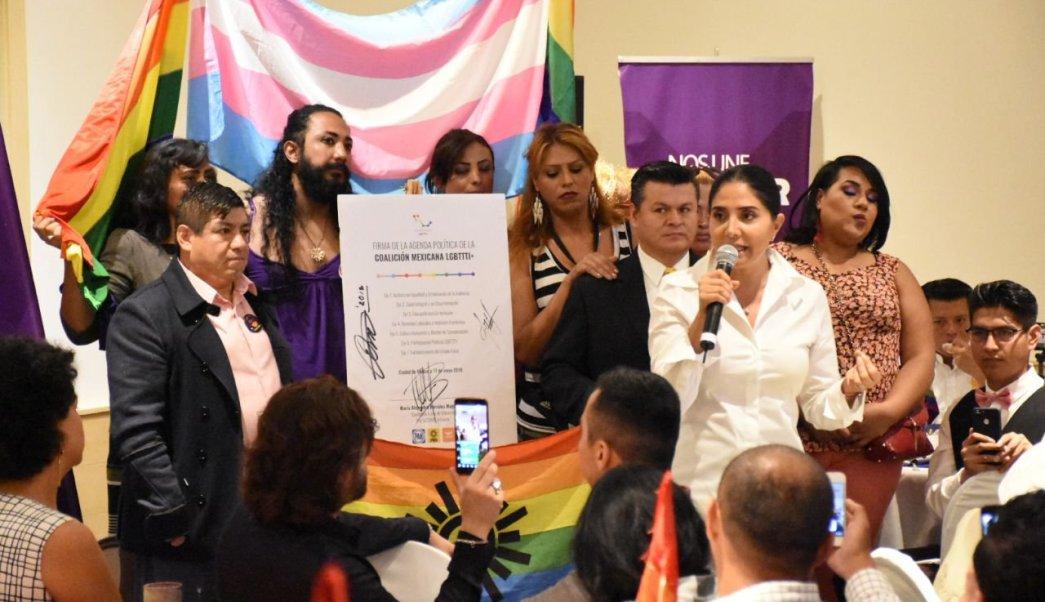 Barrales se compromete con la agenda de la comunidad LGBTTTI
