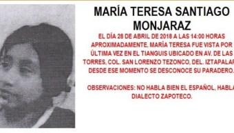Activan Alerta Amber para localizar a menor extraviada en Iztapalapa