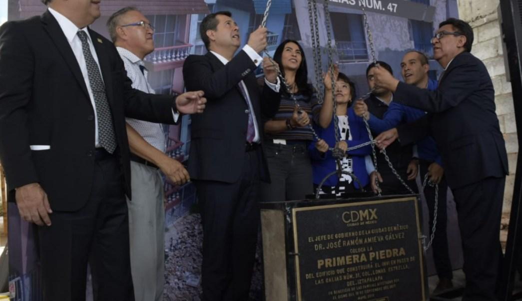 Amieva encabeza arranque de reconstrucción en Iztapala tras el 19S