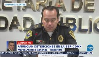 Anuncian Detenciones Ssp-Cdmx Secretaría De Seguridad Pública De La Ciudad De México