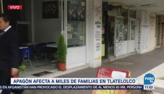 Apagón afecta a miles de familias en Tlatelolco, CDMX