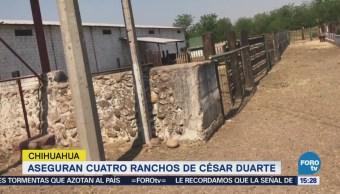Aseguran Cuatro Ranchos César Duarte Chihuahua