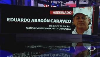 Asesinan a dirigente municipal del PES en Chihuahua