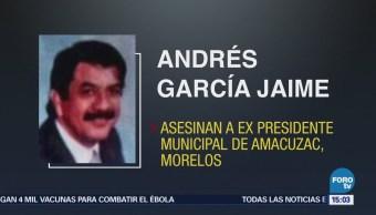 Asesinan a exalcalde de Amacuza, Morelos