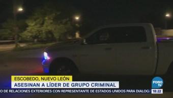 Asesinan Líder Grupo Criminal Nl