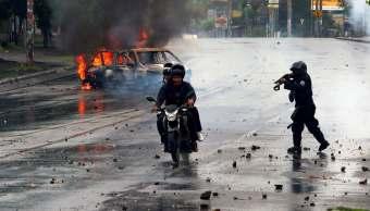 Atacan radio y televisión Nicaragua marcha opositora
