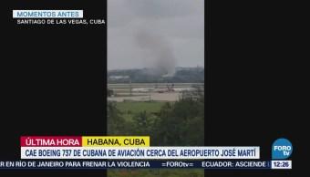 Avión se estrella en aeropuerto de La Habana