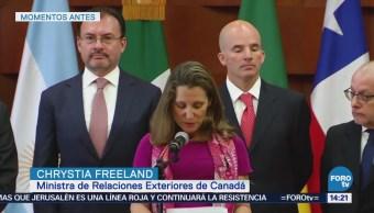 Canadá, Listo Apoyar Pueblo Venezuela Christya Freeland