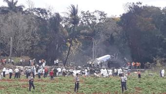 Tres supervivientes en el accidente de avión en Cuba