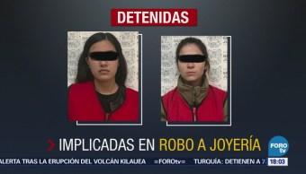 Caen dos presuntas implicadas en robo a joyería en Culiacán, Sinaloa