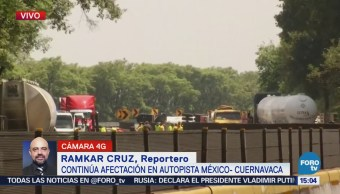 Caos México-Cuernavaca Accidente Pipa