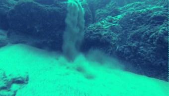 cascadas de arena submarina en baja california sur