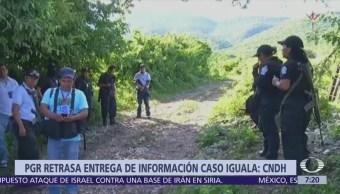CNDH acusa a PGR en caso Ayotzinapa