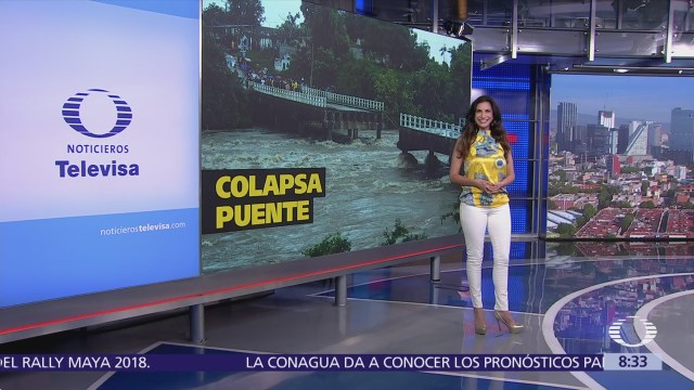 Colapsa puente en Cuba y dos personas salvan de caer
