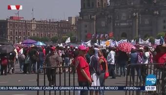 Contingente de la CNTE llega al Zócalo de la CDMX
