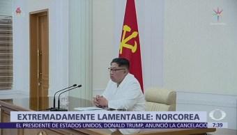 Corea del Norte lamenta cancelación de cumbre